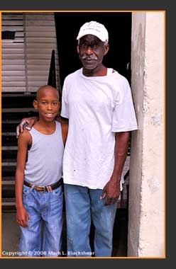 "Nashaun Williams with his grandfather ""Cinnamon"" Williams"